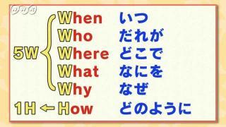 新聞作りに役立つ技(わざ) ~記事に必要(ひつよう)な5W1H~