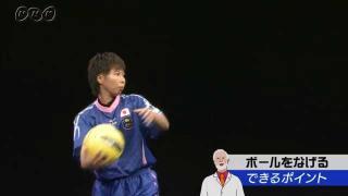 ドッジボール ボールをなげる できるポイント(稲塚小絵さん)